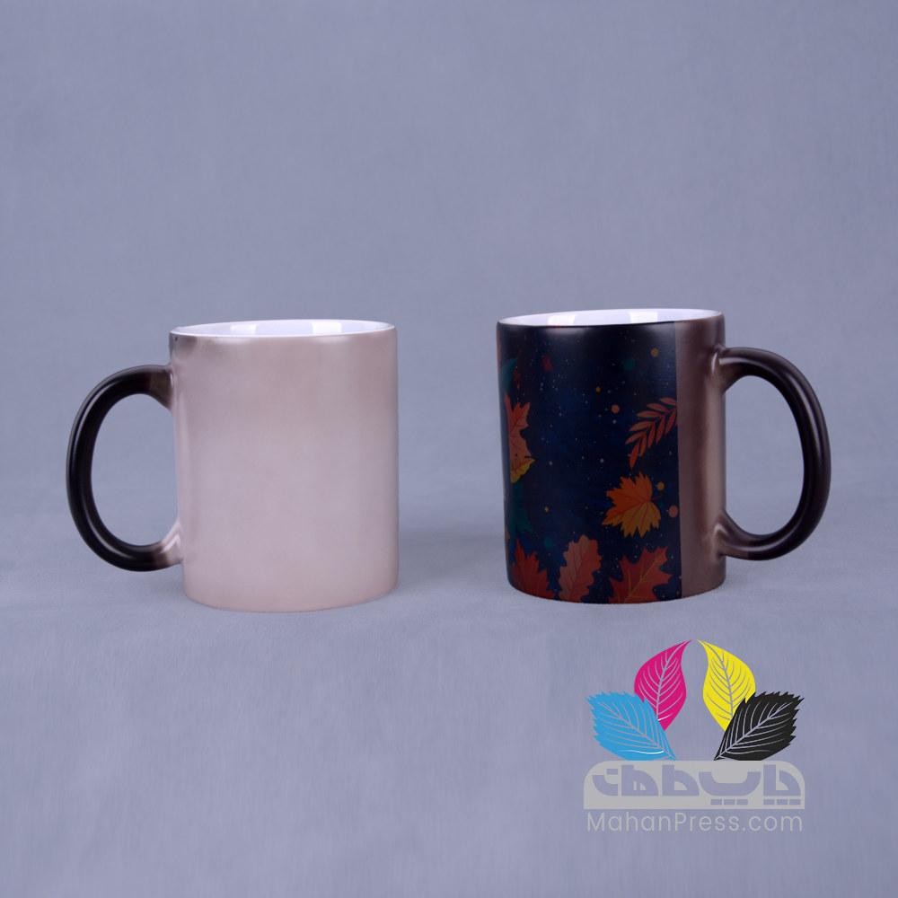 خدمات چاپ روی لیوان سرامیکی جادویی حرارتی - چاپخانه ماهان