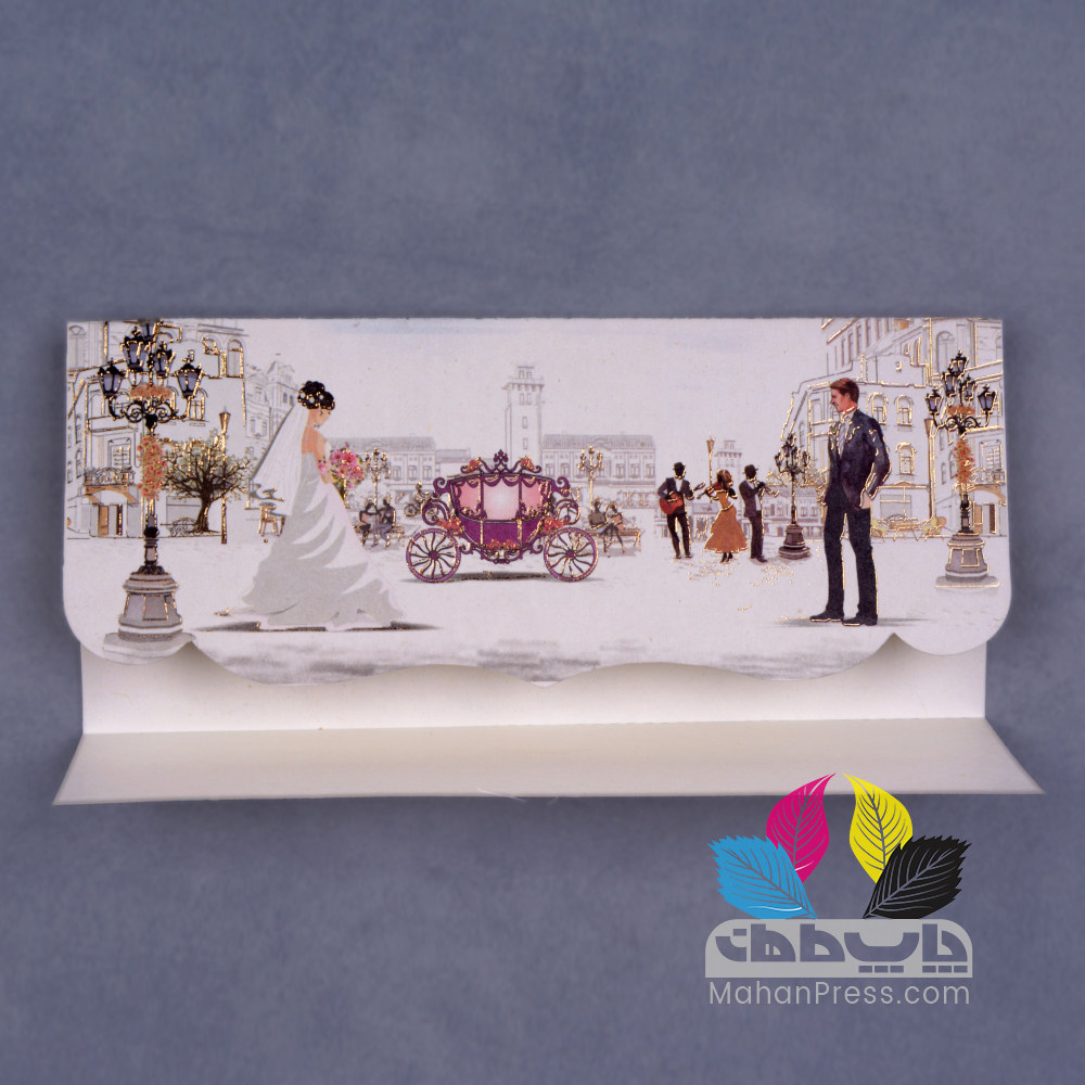 کارت عروسی کد 634 - چاپخانه ماهان