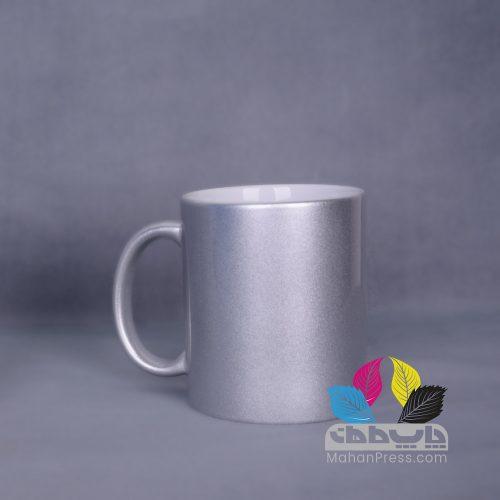 خدمات چاپ روی لیوان سرامیکی نقره ای - چاپخانه ماهان