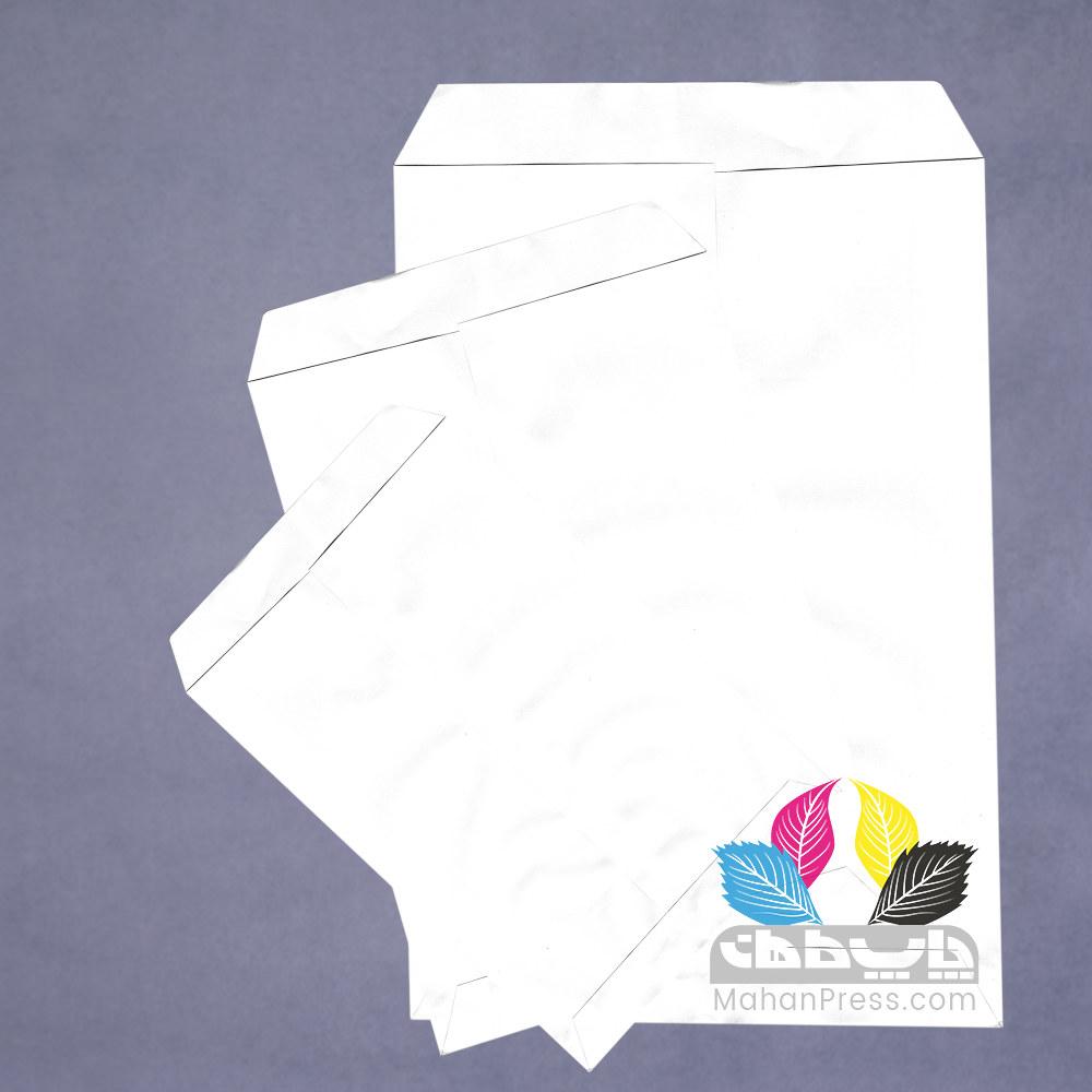 پاکت اداری کاغذی سفید در ابعاد a4 a5 a3 b4- چاپخانه ماهان - ماهان پرس