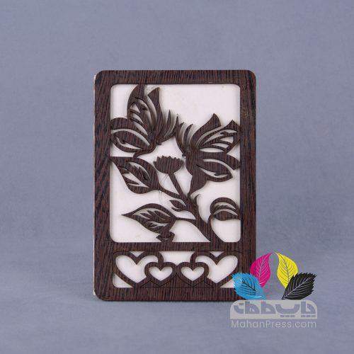 کارت عروسی کد 002 چوبی - چاپخانه ماهان